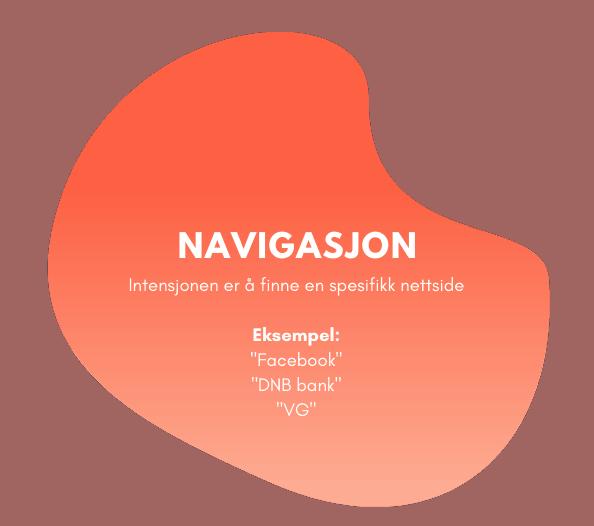 Navigasjonsbasert søkeintensjon